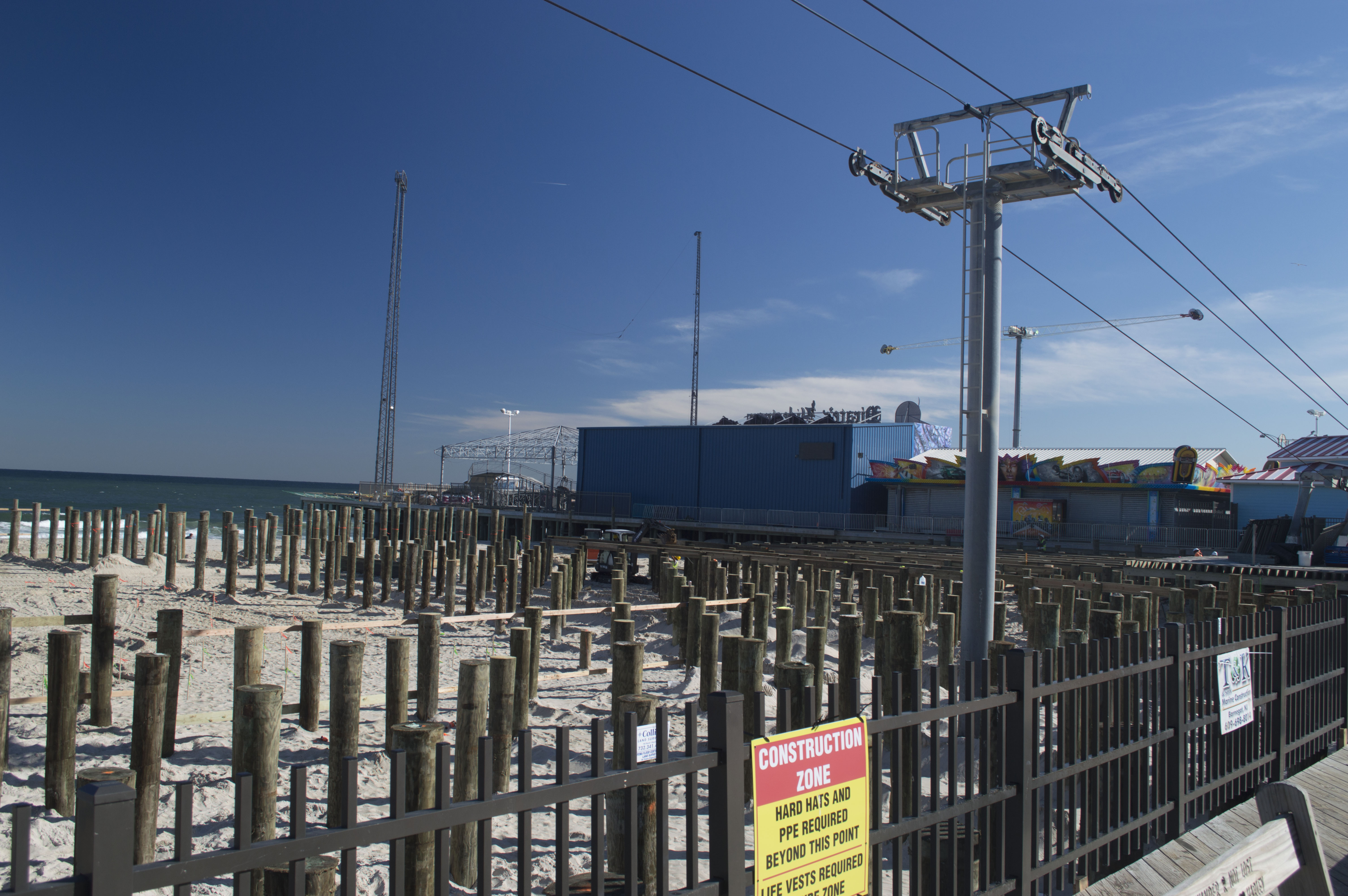 Construction on the expansion of Casino Pier, mid-October, 2016. (Photo: Daniel Nee)