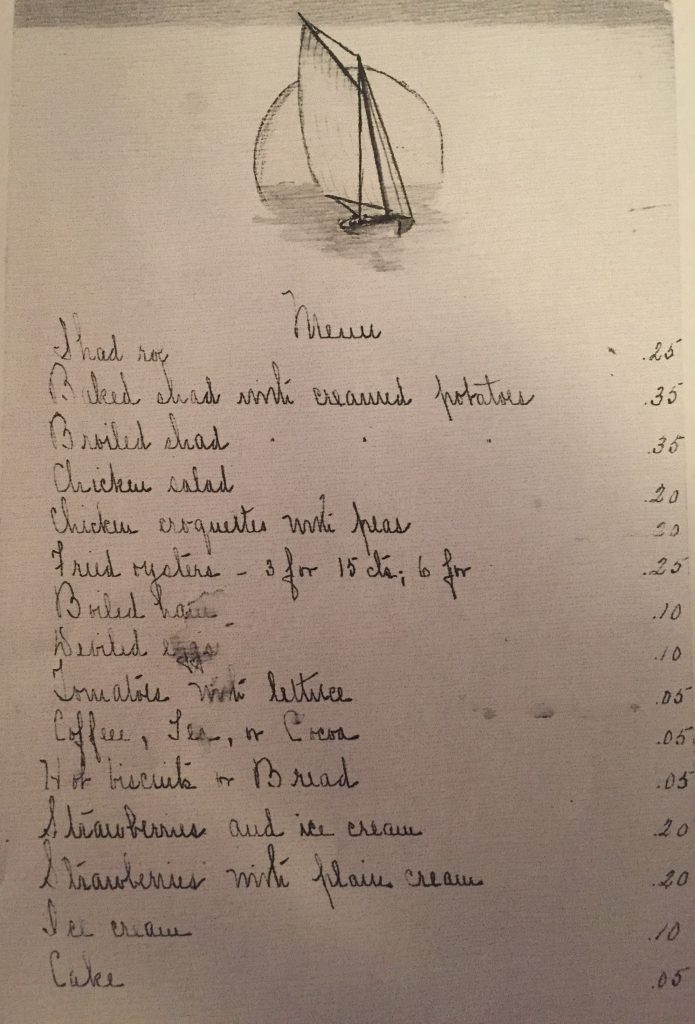 The Ortley Inn's menu, in an undated photo. (Photo: Lord Family)