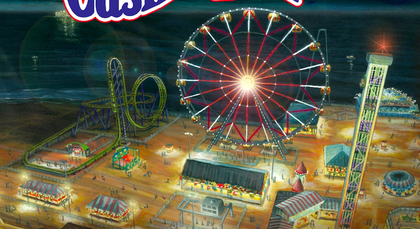 Renderings of a new Ferris wheel and roller coaster announced for Casino Pier in 2017. (Credit: Casino Pier)