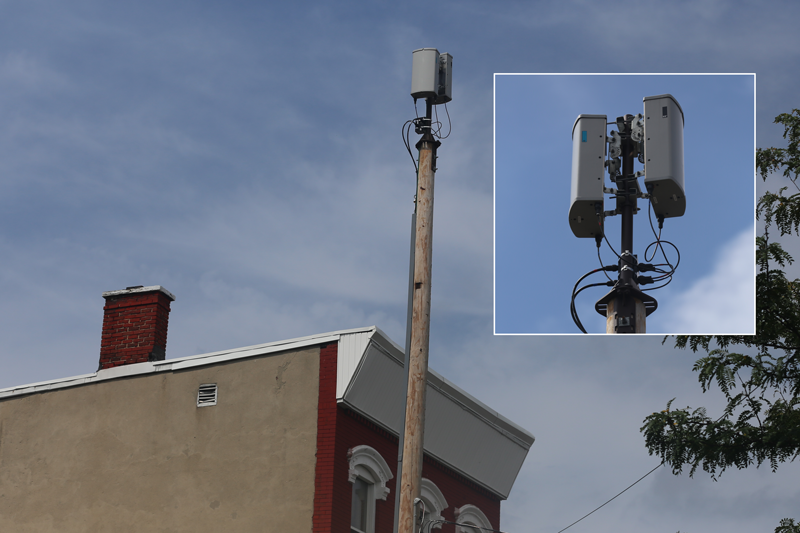 A smell cell antenna in Newark. (Photo: Verizon Wireless)
