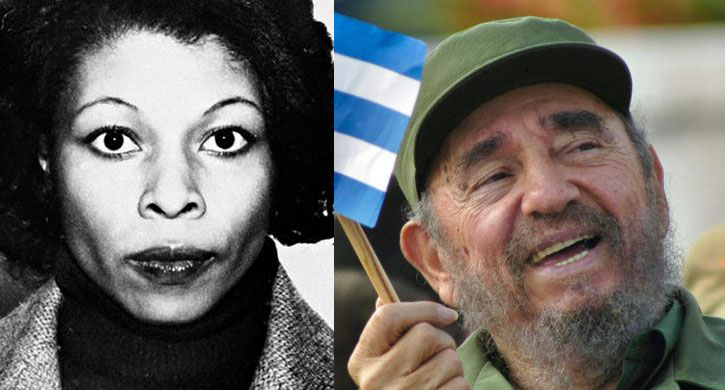 Joanne Chesimard and Fidel Castro (File Photos)