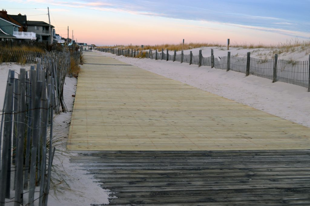 New boards on the Lavallette boardwalk. (Photo: Daniel Nee)