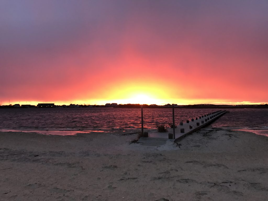 The sunset Feb. 15, 2017 at Sunset Beach in Seaside Heights. (Photo: Daniel Nee)