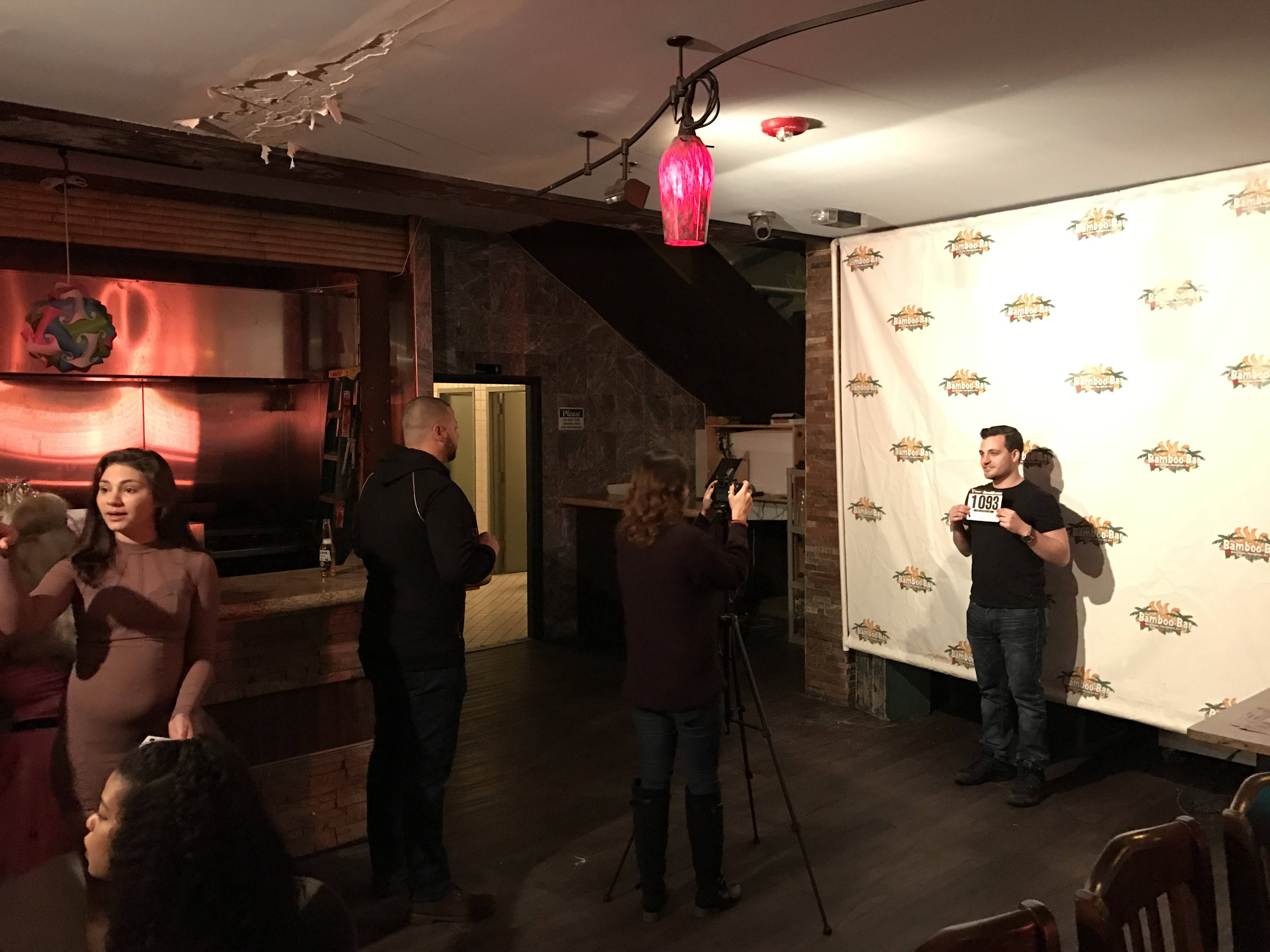 Prospective cast members of a new Seaside Heights reality TV show at the Bamboo Bar, Feb. 19, 2017. (Photo: Daniel Nee)