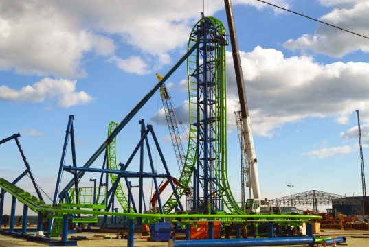 The HYDRUS roller coaster under construction in Seaside Heights. (Photo: Daniel Nee)