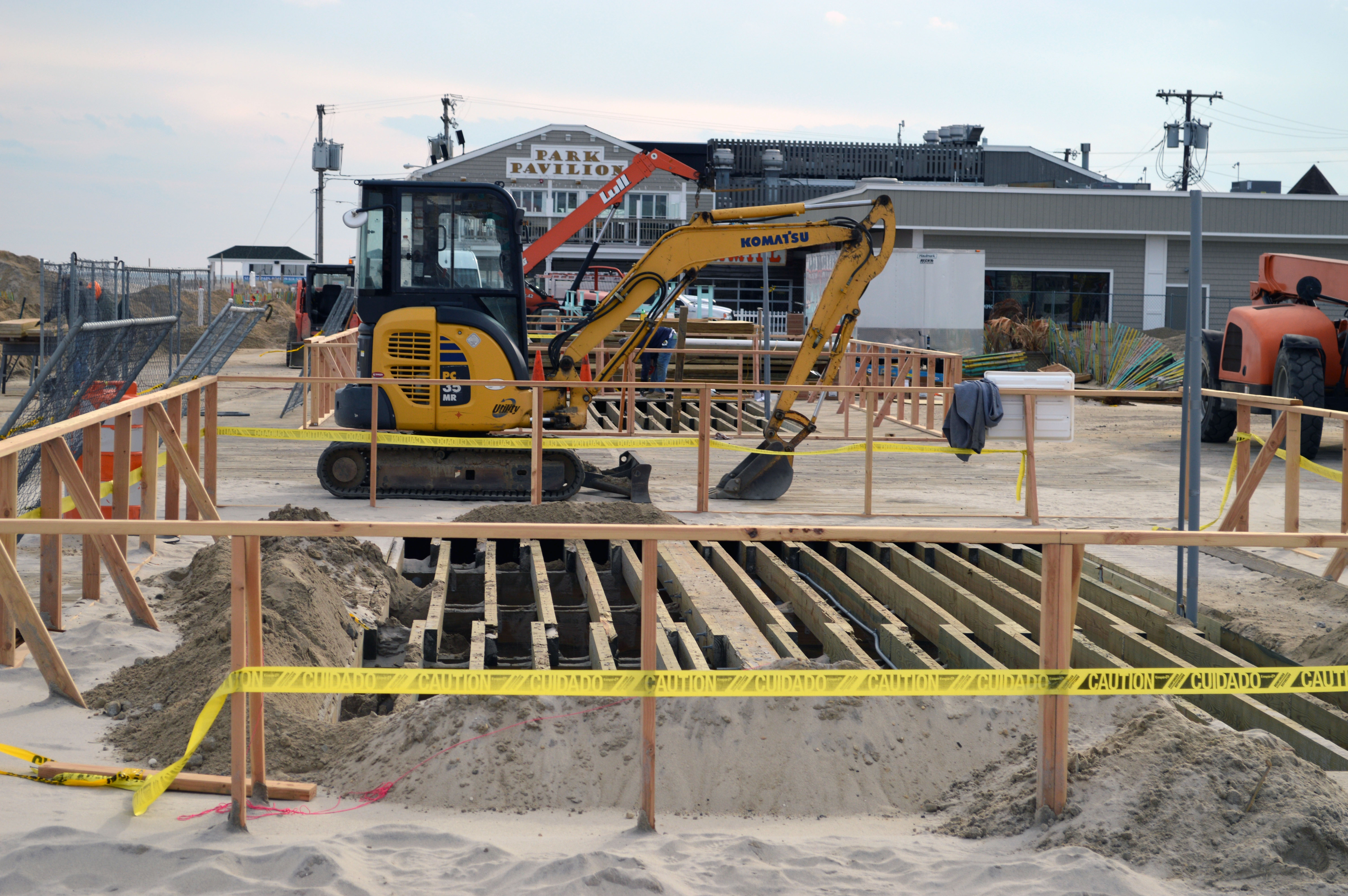 Development on the Seaside Heights and Seaside Park boardwalk areas destroyed by fire in 2013. (Photo: Daniel Nee)