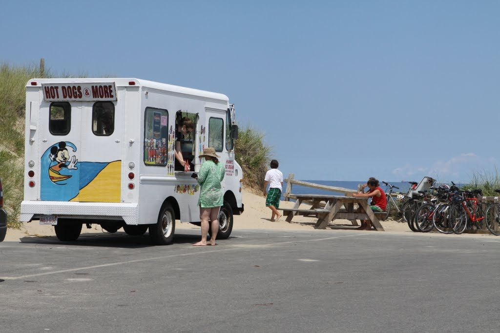 An ice cream truck at the beach. (File Photo)