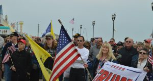Donald Trump supporters at the Seaside Heights MAGA March, March 25, 2017. (Photo: Daniel Nee)