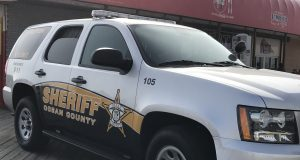 An Ocean County Sheriff's Department vehicle on the Seaside Heights boardwalk. (Photo: Daniel Nee)