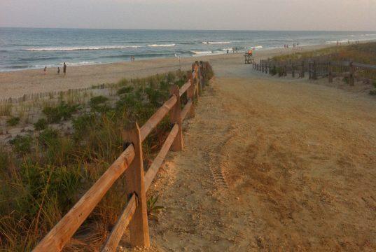 A beach entrance in Long Beach Island designed in a federal beach replenishment project. (Photo: Daniel Nee)