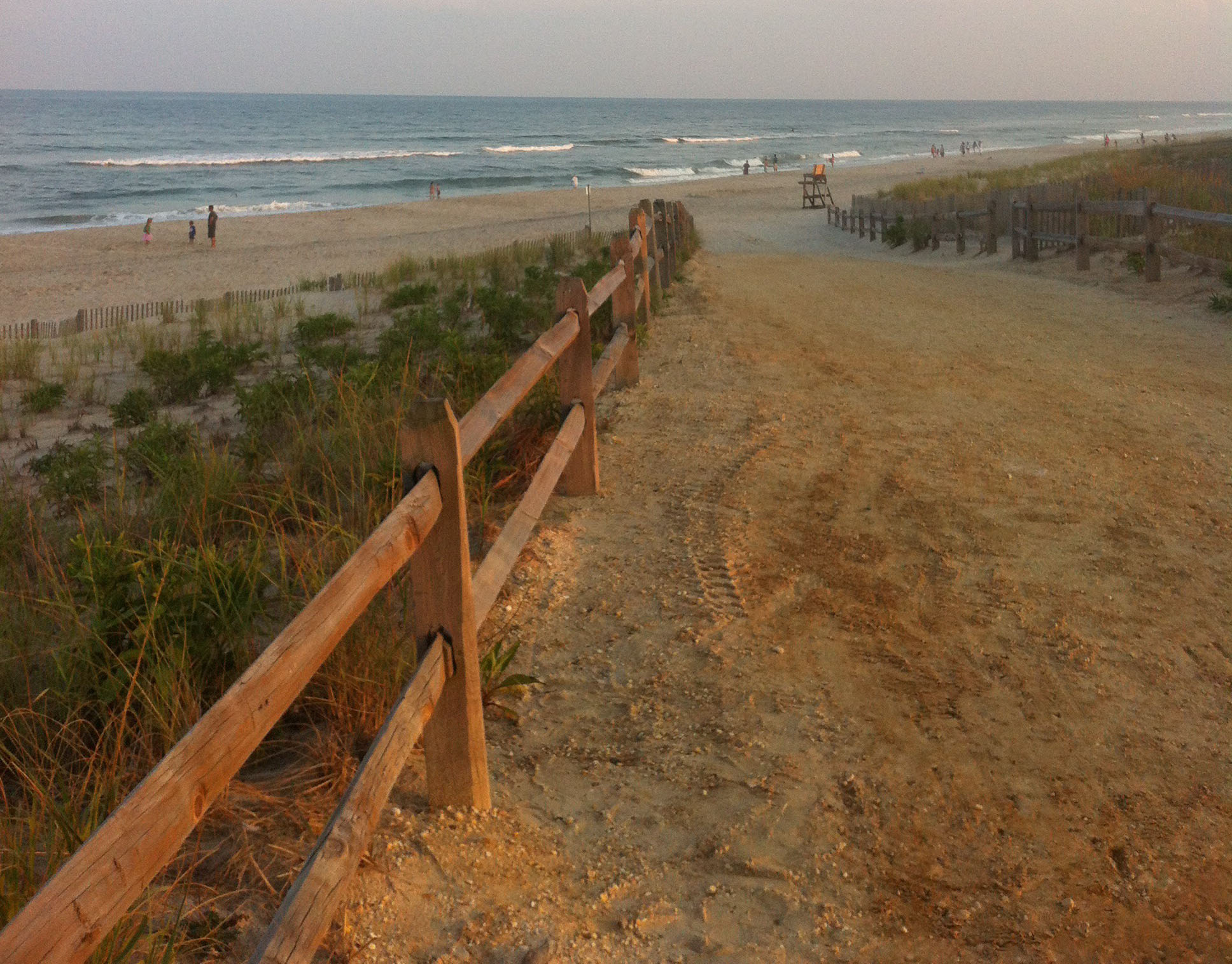 A beach entrance in Long Beach Island designed in a federal beach replenishment project. (Photo: Daniel Nee)