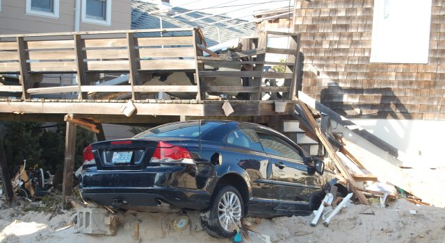 Damage from Superstorm Sandy in Normandy Beach, Nov. 2012. (Photo: Daniel Nee)