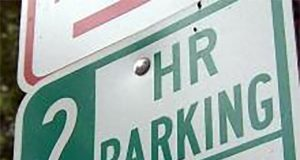 A two-hour parking limit sign. (File Photo)