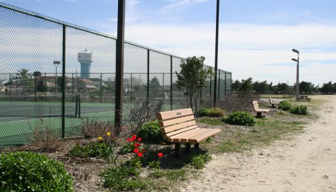 Tennis courts at Jacobsen Park. (Credit: Borough of Lavallette)