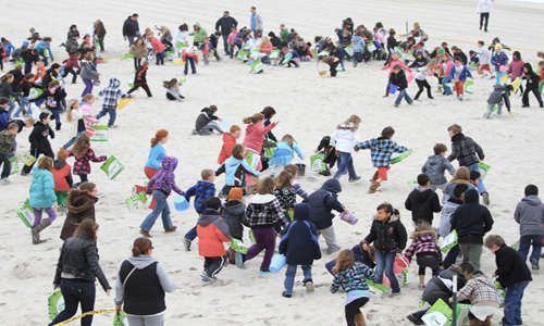 An Easter Egg Hunt on the Seaside Heights beach. (File Photo)