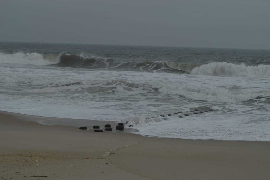 Debris and erosion at the Elizabeth Avenue beach in Lavallette. (Photo: Daniel Nee)