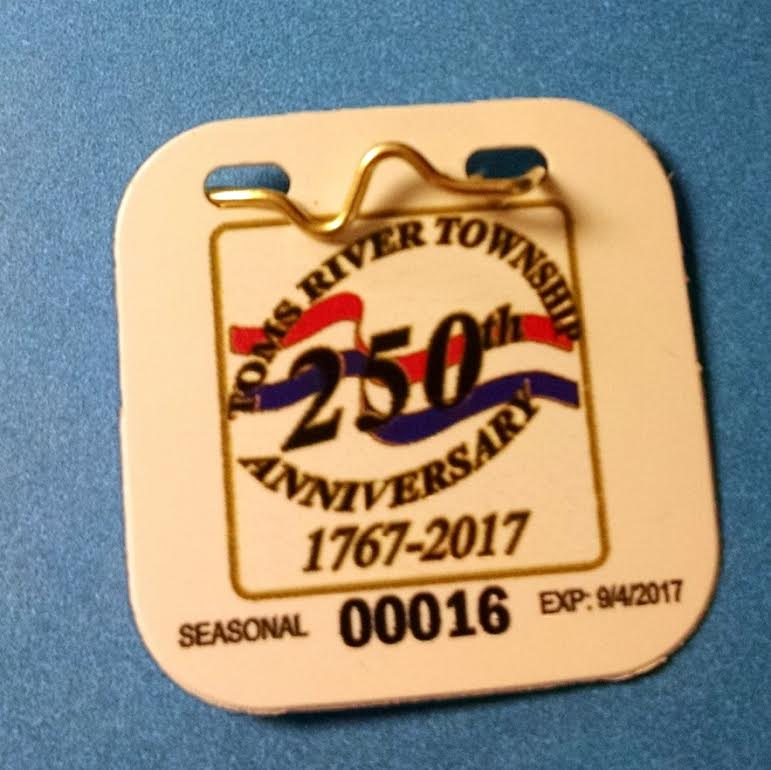 Toms River Beach Badge, 2017. (File Photo)