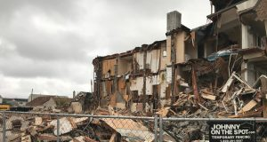 Demolition ongoing at the former Travel Inn site in Seaside Heights. (Photo: Daniel Nee)