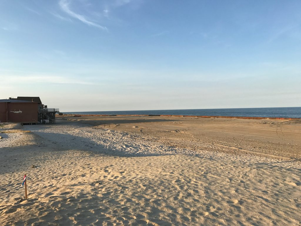Beach replenishment in Ortley Beach, N.J., as of June 14, 2017. (Photo: Daniel Nee)