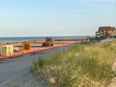 Beach replenishment in Ortley Beach, N.J., as of June 14, 2017. (Photo: Daniel Nee)