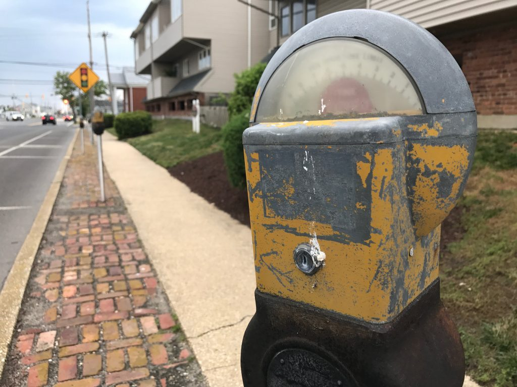 A parking meter in Seaside Heights, June 2017. (Photo: Daniel Nee)