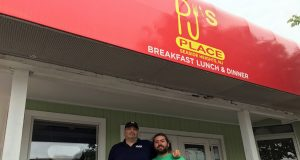 Anthony DeMarsico (left) and PJ Turso, owners of PJ's Place in Seaside Heights. (Photo: Daniel Nee)