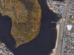 The Seaside Heights bay beach area, Sunset Beach. (Credit: Google Maps)