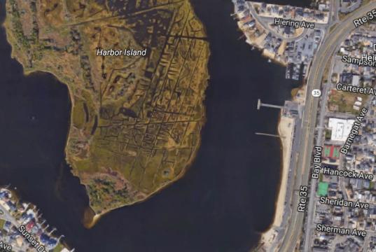 The Seaside Heights bay beach area, Sunset Beach. (Credit: Google Maps)