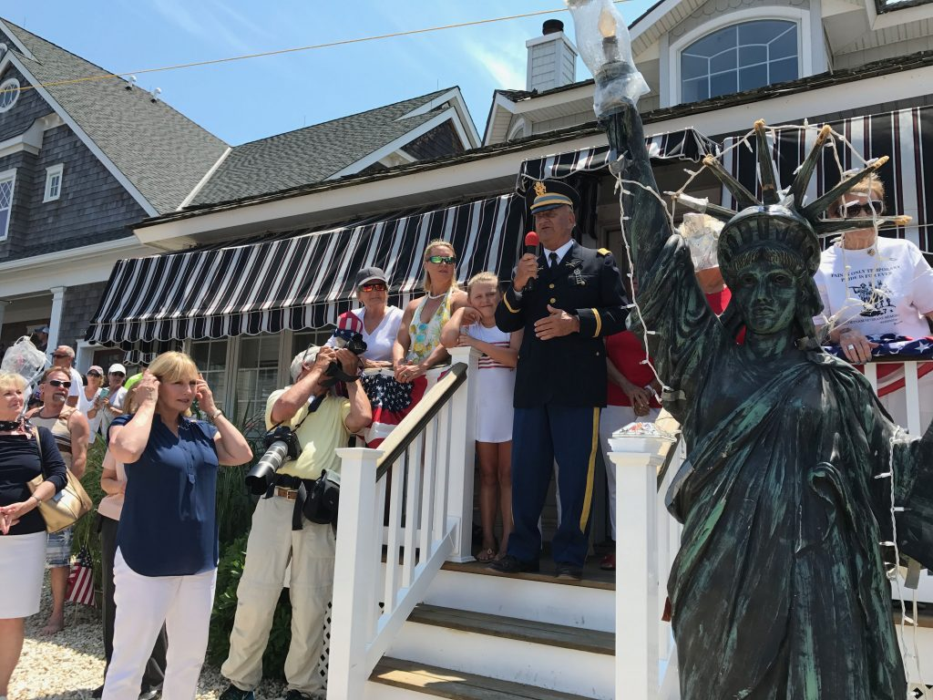 2017 Normandy Beach Independence Day Flag Raising (Photo: Daniel Nee)