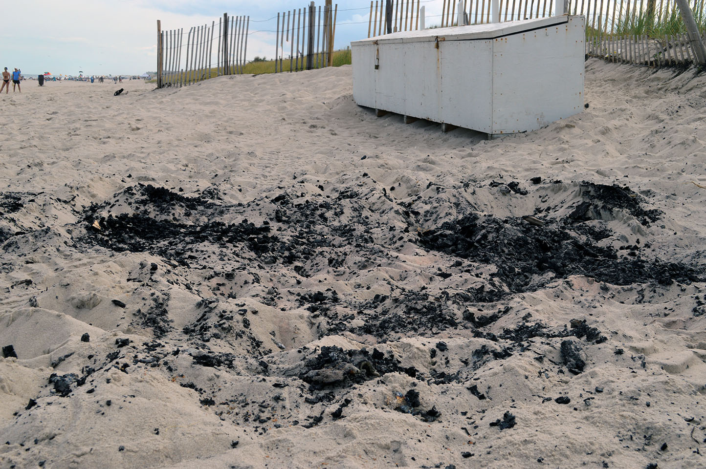 The remnants of an ice cream shack on the 2nd Avenue beach in Seaside Park. (Photo: Daniel Nee)
