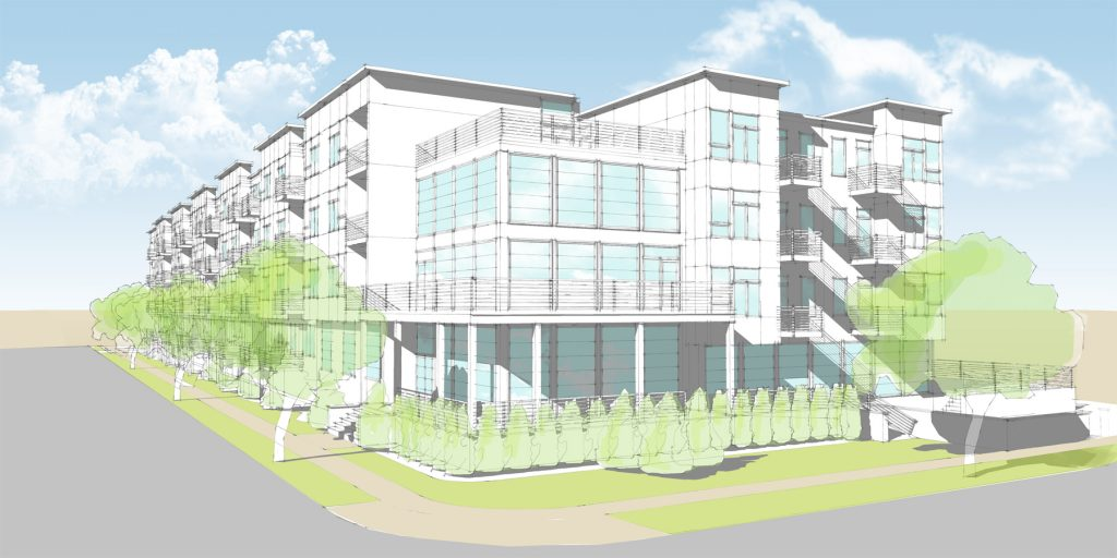 Cornerstone at Seaside project rendering. (Credit: Walters Group)
