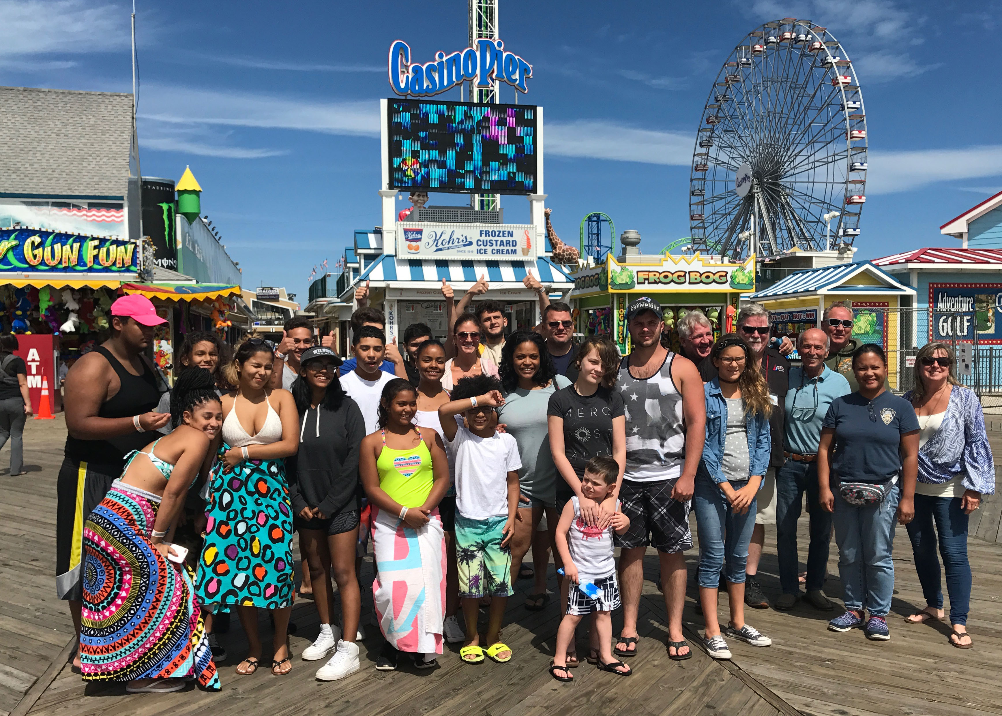 Service members and their families from Joint Base MDL in Seaside Heights, Sept. 1, 2017. (Photo: Daniel Nee)
