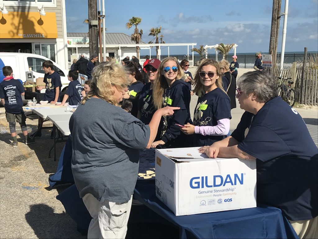 The Sandy Angels event in Seaside Park, Oct. 28, 2017. (Photo: Daniel Nee)