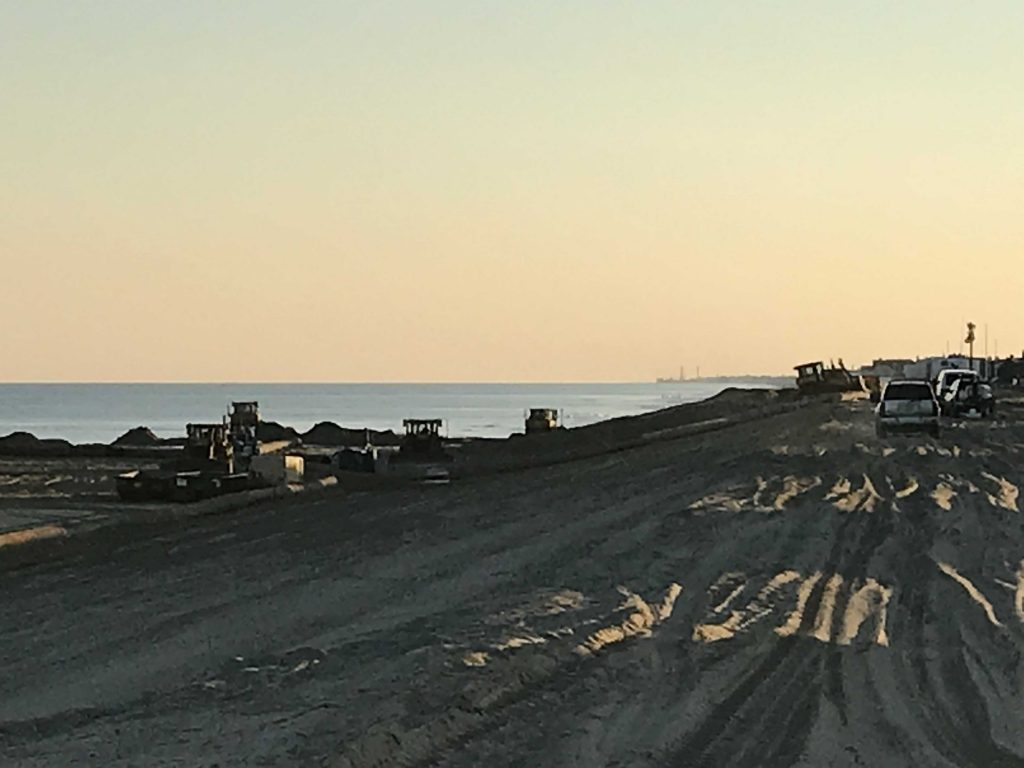 Beach replenishment work in Mantoloking, N.J., Nov. 27, 2017. (Photo: Daniel Nee)