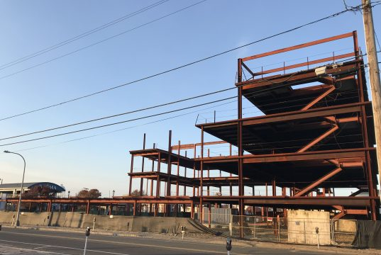 A partial dismantling of the steel structure on the Boulevard in Seaside Heights, N.J., Nov. 29, 2017. (Photo: Daniel Nee)