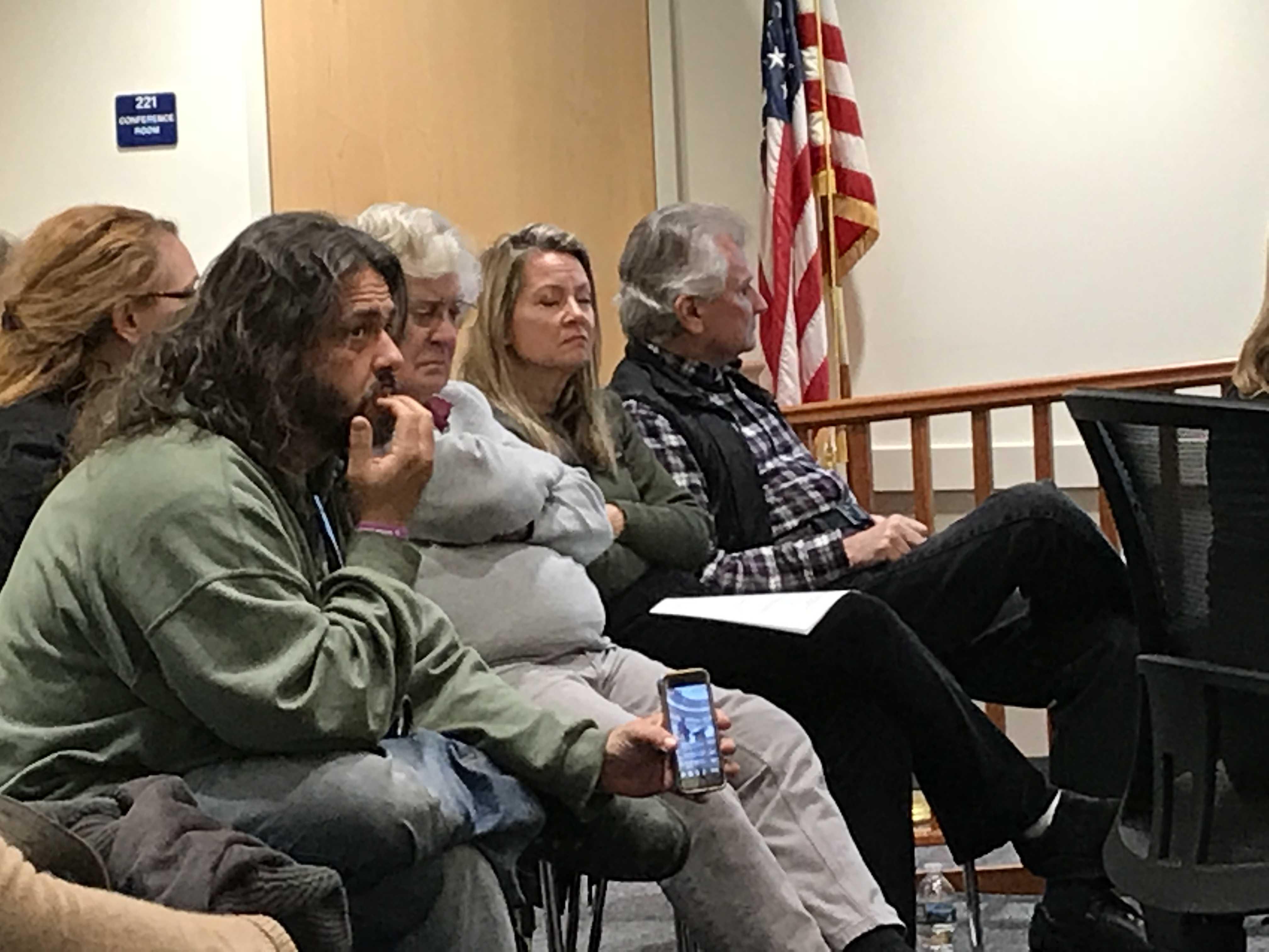 "Edward ""Lefty"" Grimes, in green, at the Dec. 18, 2017 borough council meeting. (Photo: Daniel Nee)"