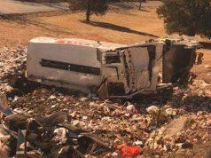 The scene of a train crash involving U.S. representatives. (Credit: @rachaelmbade/ Twitter)