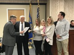 Councilman Guy Mazzanti is sworn into office in Seaside Heights, Jan. 3, 2017. (Photo: Daniel Nee)