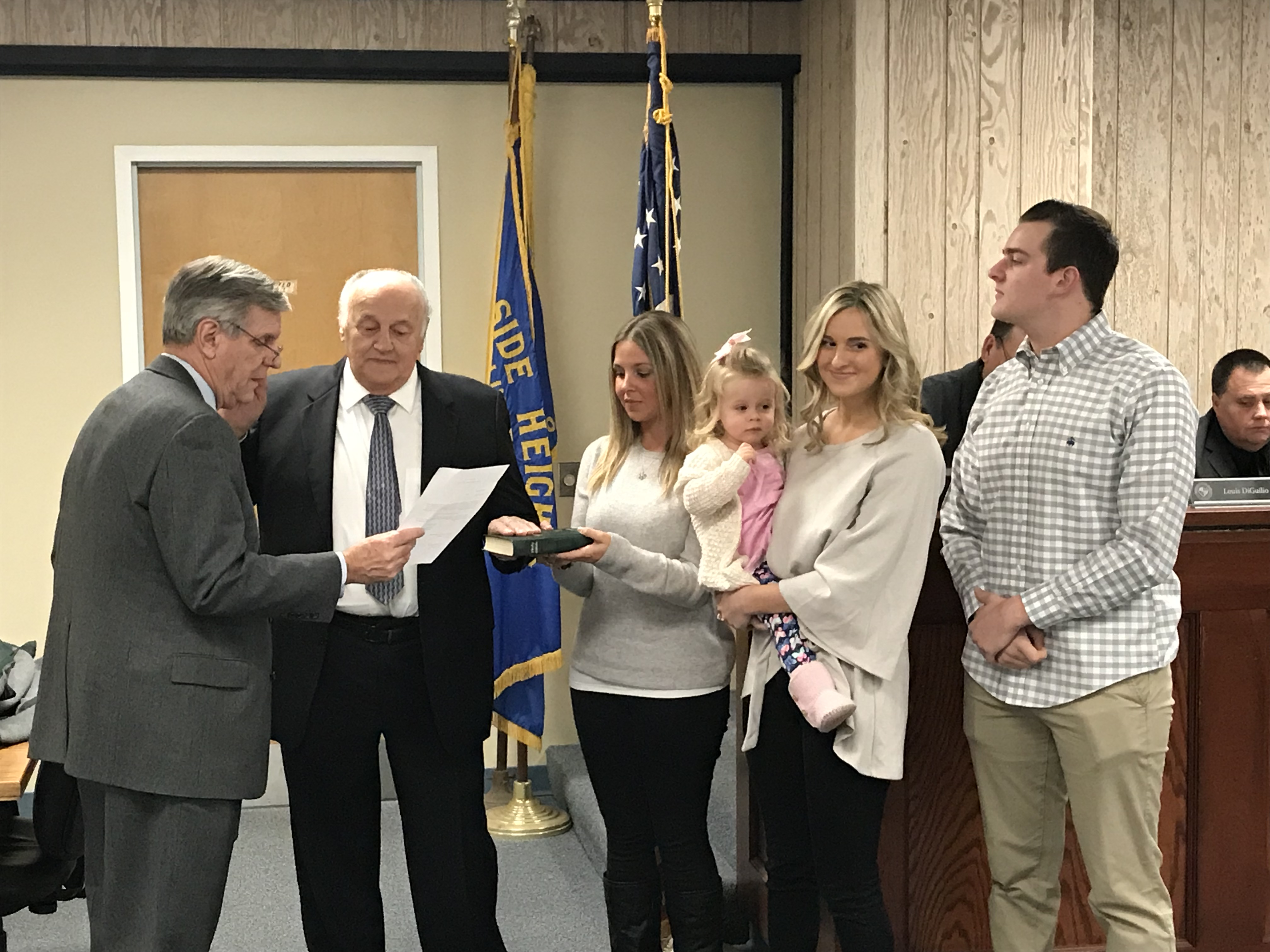 Councilman Guy Mazzanti is sworn into office in Seaside Heights, Jan. 3, 2017. (Photo: Daniel Nee)