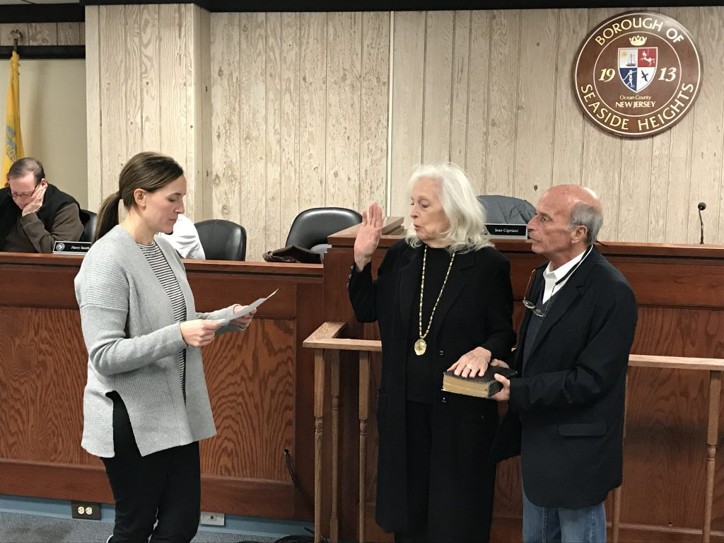 Agnes Polhemus is sworn into office, Jan. 17, 2018. (Photo: Daniel Nee)
