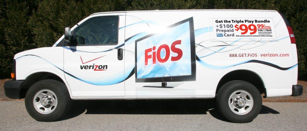 Verizon FiOS truck. (Photo: B2B Media)