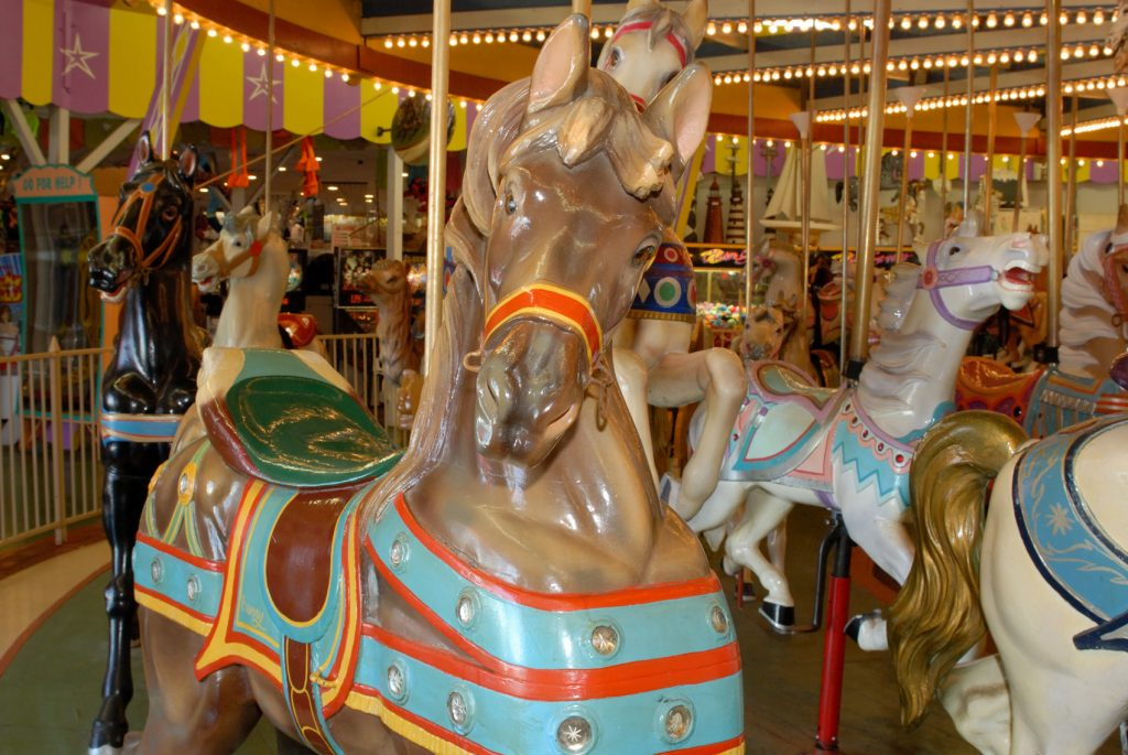 The historic Dentzel-Looff carousel in Seaside Heights. (Photo: Daniel Nee)