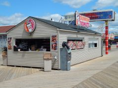 The Dunkin' Donuts location at Hamilton Avenue on the Seaside Heights boardwalk. (Credit: Thomas Seymour/ Flickr)