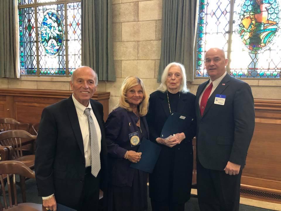 Mayor Anthony Vaz, Council President Anita Zalom, Councilwoman Agnes Agnes Polhemus and guest, Mayor Walter LaCicero. (Photo: Tony Vaz)