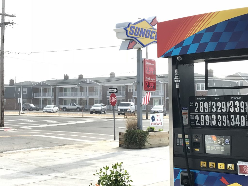 Kelly's Sea-Bay Sunoco in Lavallette, NJ. (Photo: Daniel Nee)