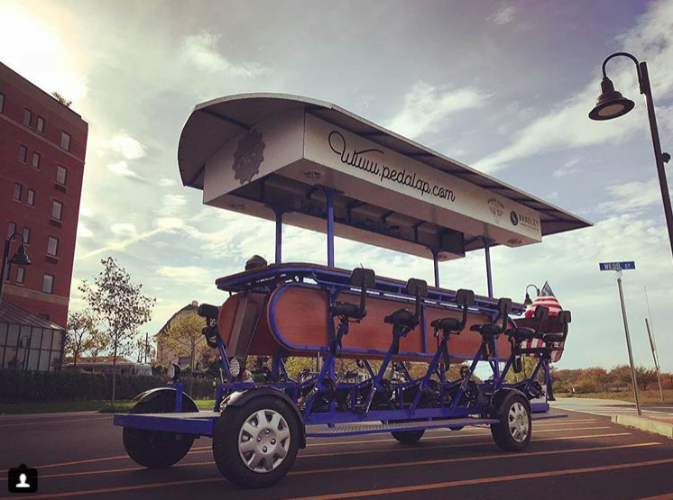 The Asbury Pedacycle attraction in Asbury Park. (Credit: Asbury Pedacycle/Instagram)