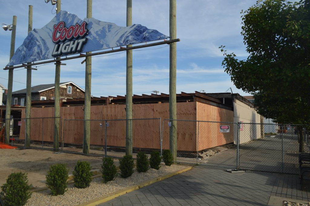 Construction at the former Merge nightclub in Seaside Heights, June 26, 2018. (Photo: Daniel Nee)
