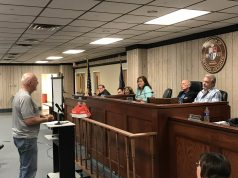 A man speaks at the June 6, 2018 council meeting in Seaside Heights. (Photo: Daniel Nee)