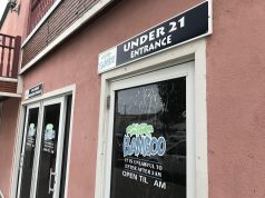 An 'under 21' entrance at Bamboo Bar in Seaside Heights. (Photo: Daniel Nee)