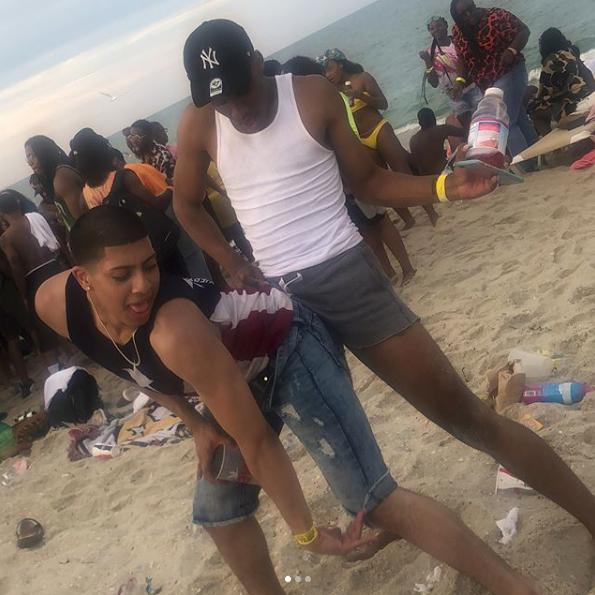Revelers at Beachnik in Seaside Heights. (Credit: Instagram/ ricann.papi)